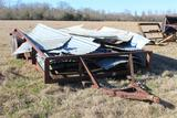 16 Ft Tag Trailer w/Sheets of Tin - NO TITLE