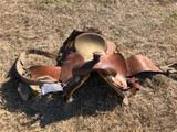 Leather 15 Inch Roping Saddle