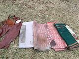 Lot of Saddle Blankets and Leather Zip Up Leggings