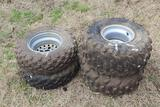 Set of ATV 4 Wheeler Tires
