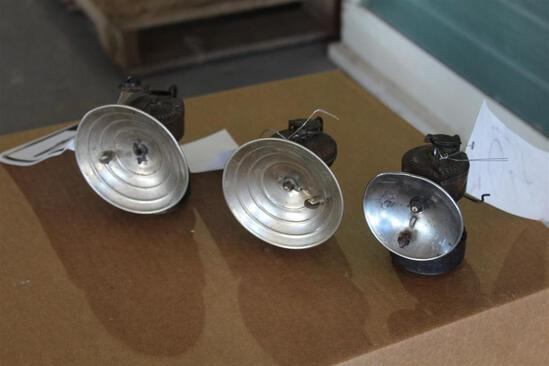Lot of (3) Autolite Oil Fired Lights