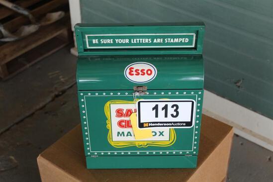 Santa Claus Metal Mailbox