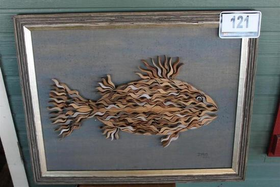 Wood Art Fish Picture
