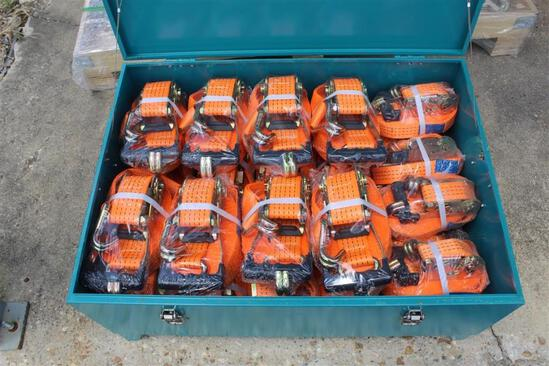 BOX OF RATCHET TIE DOWN AND TOOL BOX