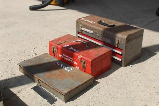 MILWAUKEE DRILL W/ TOOL BOXES W/ TOOLS