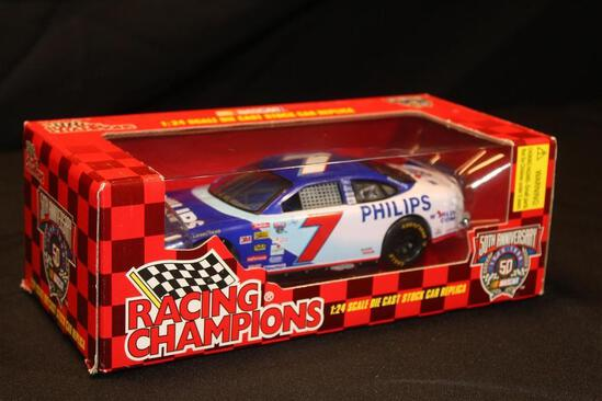 1998 Racing Champions 50th Anniversary #7, 1:24 Scale Die Cast Stock Car replica