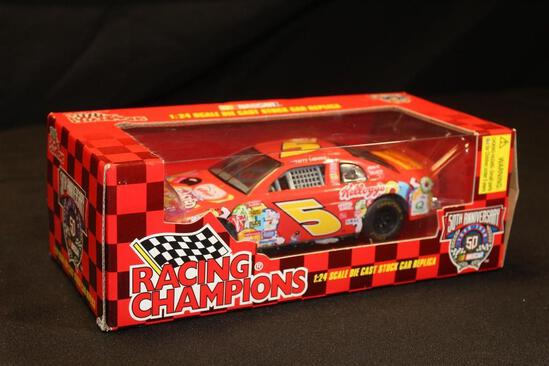 1998 Racing Champions 50th Anniversary $5, 1:24 Scale Die Cast Stock Car replica