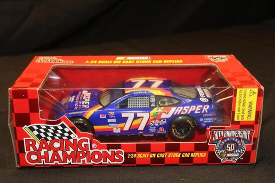 1998 Racing Champions 50th Anniversary #77, 1:24 Scale Die Cast Stock Car replica
