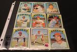 Lot of (9) Baseball Cards, Don Buford (Orioles), Brooks Robinson (Orioles), Terry Crowley (Orioles),