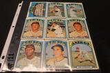 Lot of (9) Baseball Cards, Andy Etchebarren (Orioles), Mike Cuellar (Orioles), Dave Leonhard