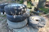 PALLET OF MISC TIRES AND RIMS