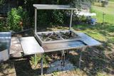 STAINLESS DOUBLE BURNER STAND