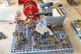 LOT OF BRACKETS AND AIR METER W/ PARTS
