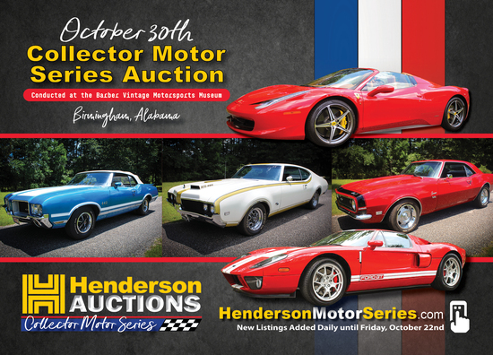 Henderson Auctions Collector Motor Series Auction
