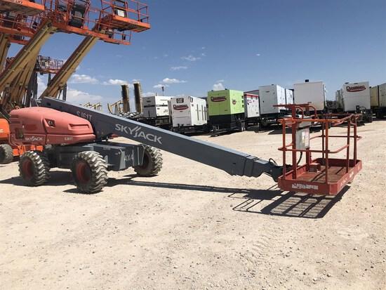 """2014 SKYJACK SJ61T Telescoping Boom Lift, s/n 97001168 ,  67'3"""" Max Work Height, 61'3"""" Max Platform"""