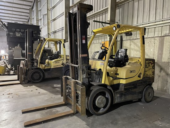 2012 HYSTER S155FT Turbo Diesel Forklift, s/n F024V01788K, 15,000 Lb. Capacity, 2-Stage Mast, Fork