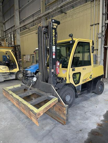 HYSTER H120FT Turbo Diesel Forklift, s/n S005V04172M, 12,000 Lb. Capacity, 2-Stage Mast, Hydraulic