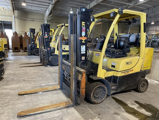 2015 HYSTER S100FTBCS/150J LP Forklift, s/n J004V02100N, 10,000 Lb. Capacity, 2-Stage Mast,