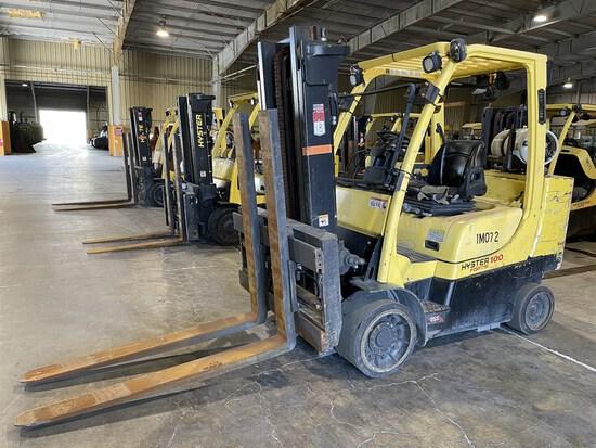 2015 HYSTER S100FTBCS/150J LP Forklift, s/n J004V02093N, 10,000 Lb. Capacity, 2-Stage Mast,