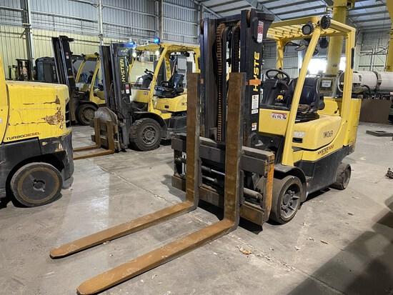2015 HYSTER S100FTBCS/150J LP Forklift, s/n J004V02084N, 10,000 Lb. Capacity, 2-Stage Mast,