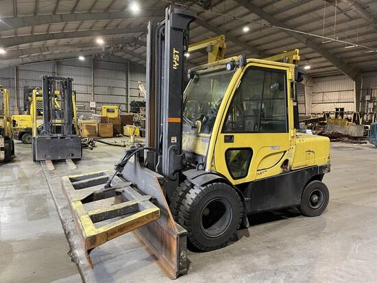 2012 HYSTER H100FT Turbo Diesel Forklift, s/n R005V02921K, 10,000 Lb. Capacity, Two-Stage Mast,