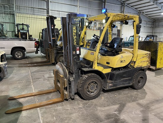 2014 HYSTER H90FT Turbo Diesel Forklift, s/n S005V03363M, 9,000 Lb. Capacity, 3-Stage Mast, Fork
