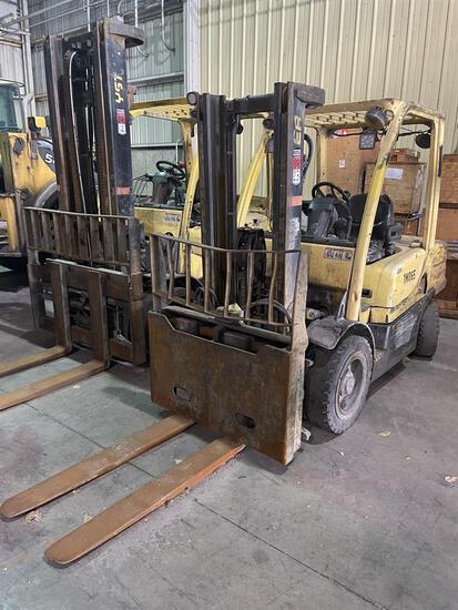2012 HYSTER H70FT/100C Diesel Forklift, s/n L177V10816K 7,000 Lb. Capacity, 2-Stage Mast, Cascade