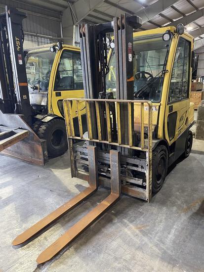 2012 HYSTER H60FT Diesel Forklift, s/n L177V10005K, 6,000 Lb. Capacity, 3-Stage Mast, Fork