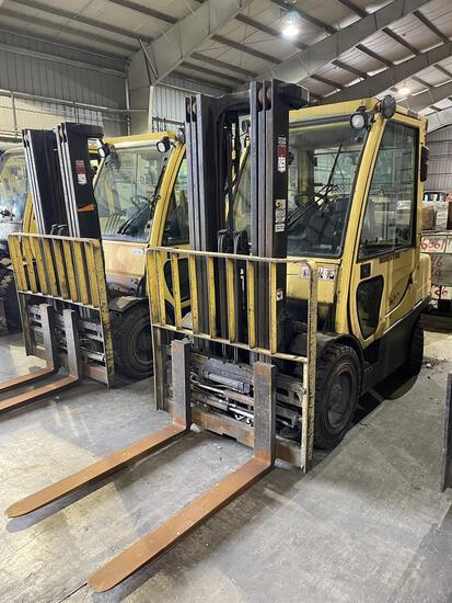 2007 HYSTER H60FT LP Forklift, s/n L177B16072E, 6,000 Lb. Capacity, 3-Stage Mast, Fork Positioner,