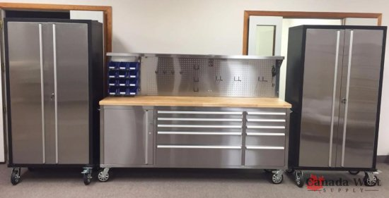 NEW 84 IN TOOL BENCH & (2) 72 IN TOOL BENCH 841SS72SSC