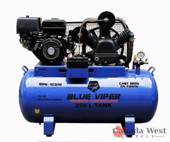 NEW 15 HP GAS ELECTRIC START 66 GALLON COMPRESSOR TRUCK MOUNT