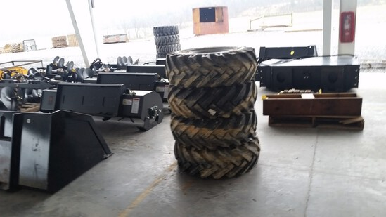 Tires On Wheels 'Set of 4'