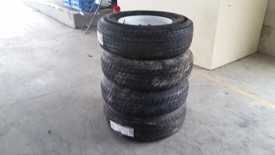 Trailer Tires & Wheels 'Set of 4 - NEW'