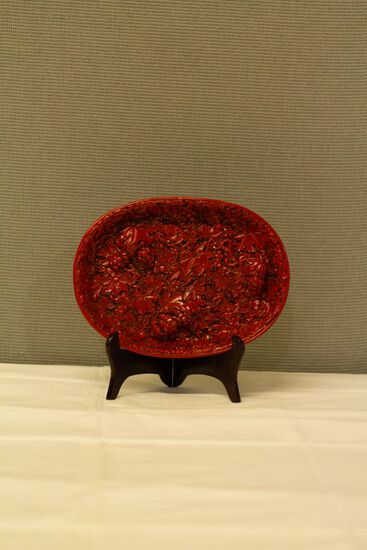 Cinnabar Tray with Stand