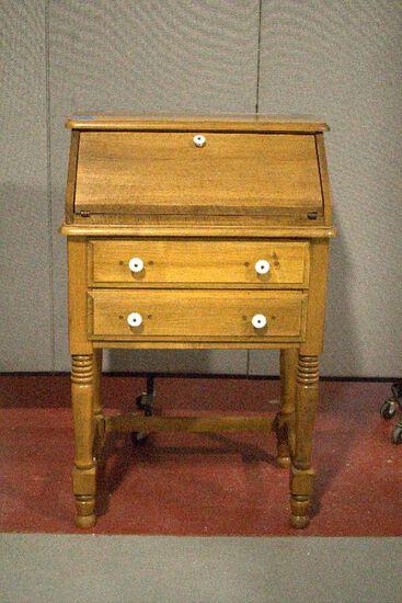 Maple Slant Front Desk