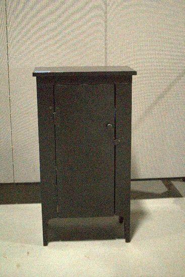 Black Painted One Door Cabinet