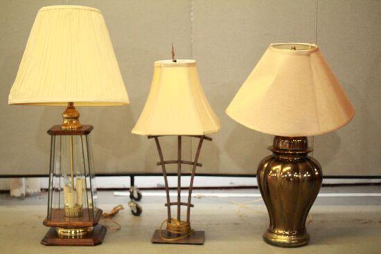 3 Single Lamps