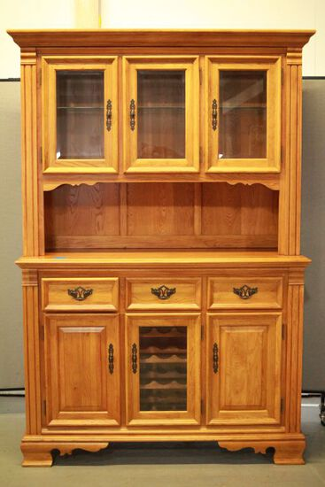 Richardson Brothers Company Oak Glass Door China Cabinet