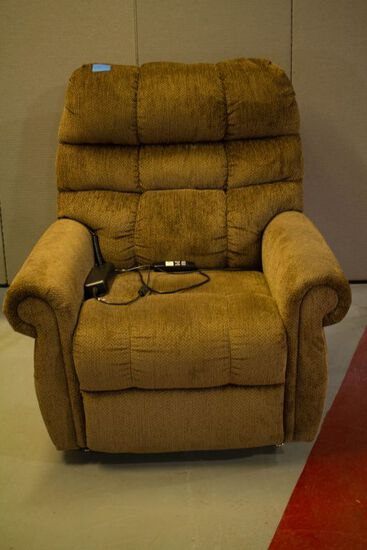 Tan Electric Lift Recliner
