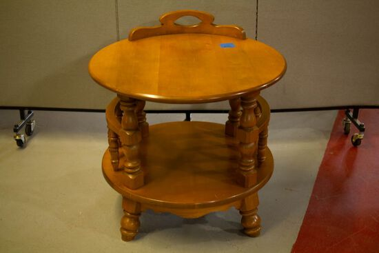 Round Maple End Table