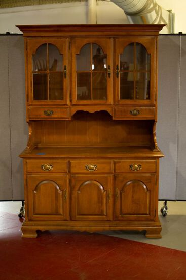 Ethan Allen Maple 2 Piece China Closet