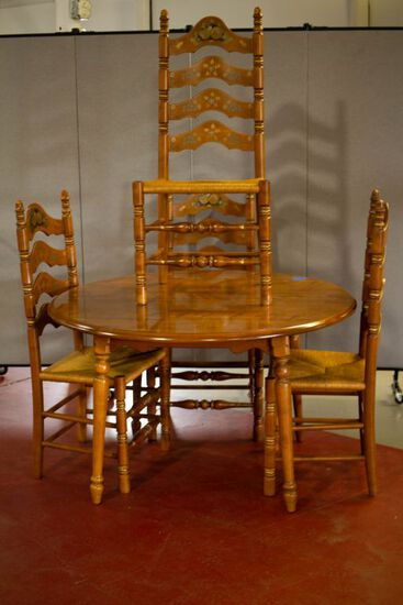 Ethan Allen Maple Table and Chairs