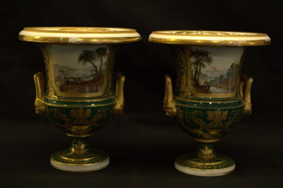 Pair of Procelain Mantle Vases