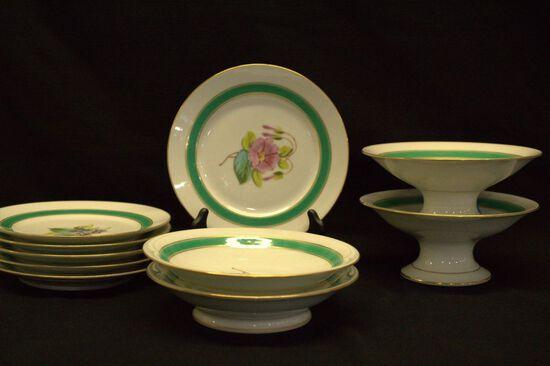 6 Plates, 2 Soup Bowls, 2 Compotes