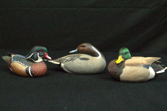 3 North American Ducks Decoy Collection