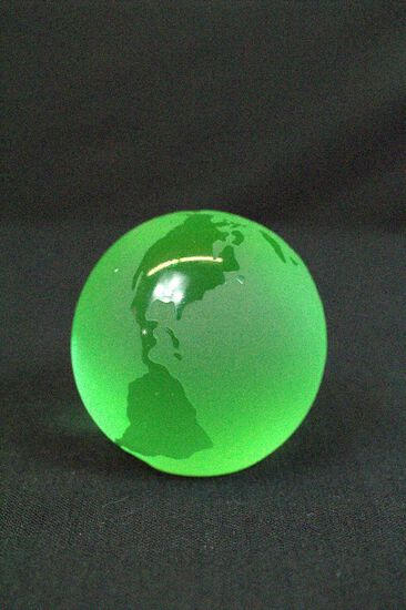 Green Globe Paper Weight