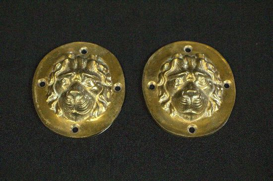 2 Brass Lion Heads