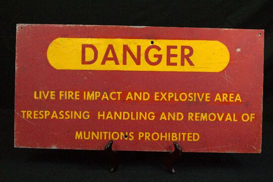 Munitions Metal Sign