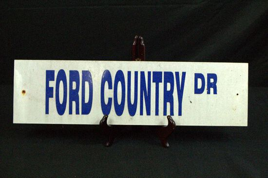 Ford Country Dr  Metal Sign