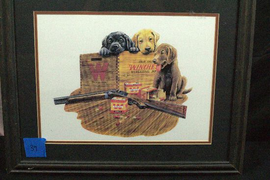 Winchester Lab Puppies Print By F.W. Thomas